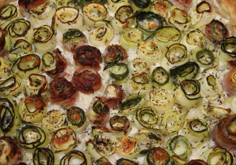 quiche courgettes lard mozzarella