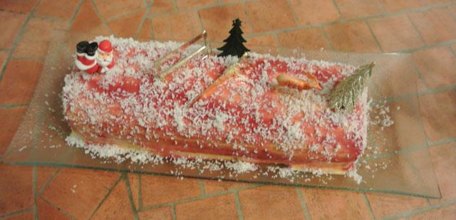 buche framboises mangue coco