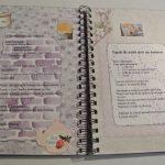 cahier recettes en scrap