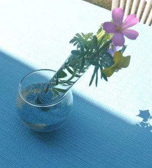 decoration tables eprouvettes