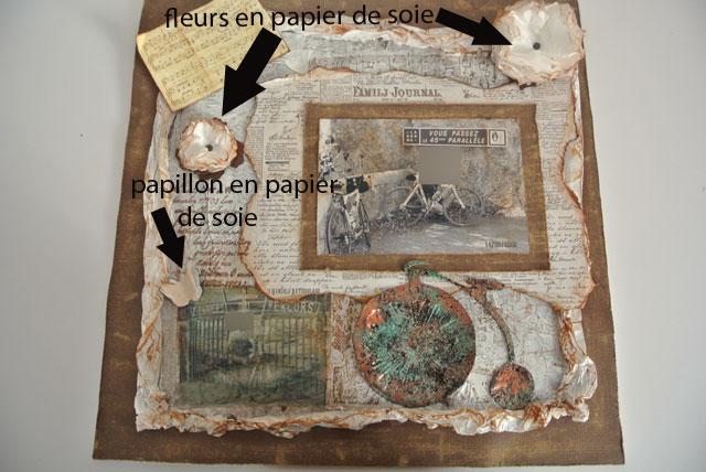 page scrap fleur soie