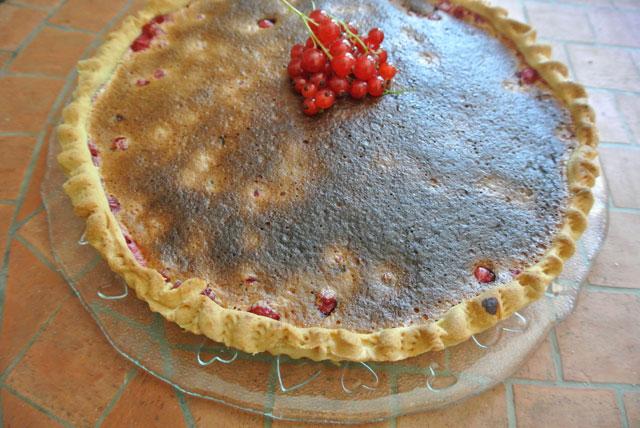 tarte moelleuse aux groseilles
