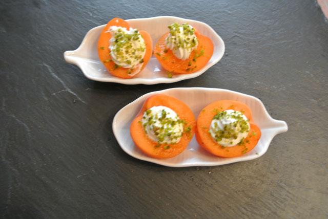 abricots farcis au mascarpone