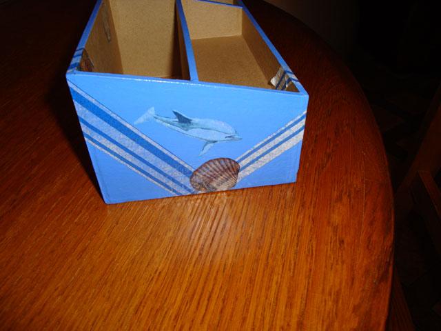 serviettage boite dauphin