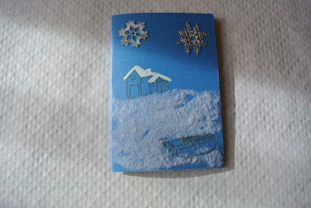 carte de voeux neige