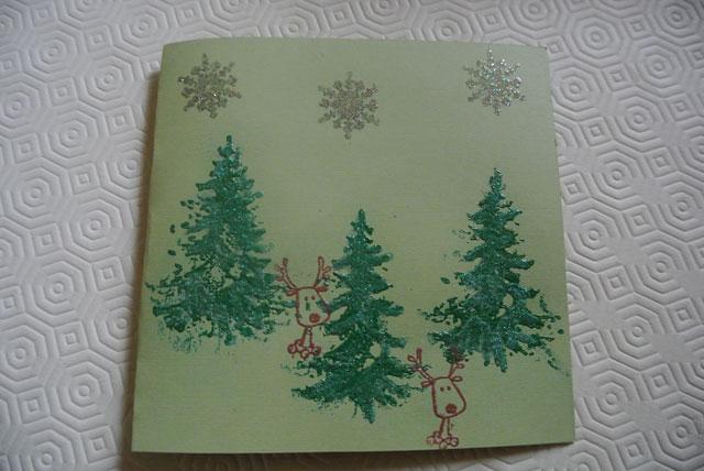 carte de voeux animaux de la forêt