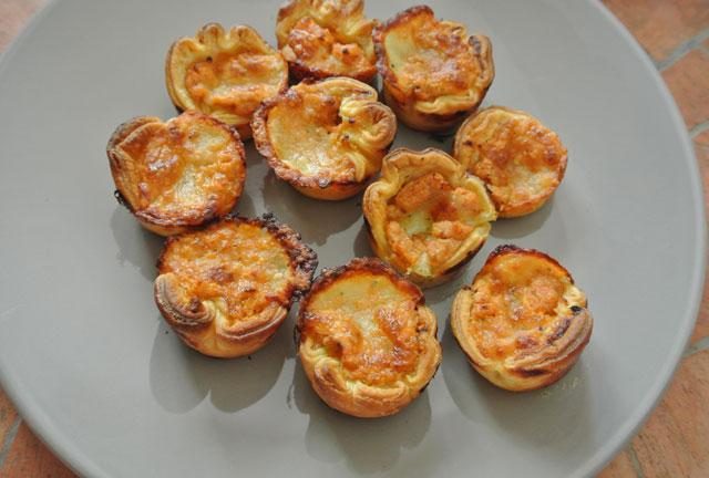 feuilletes tomates pignons mozzarella