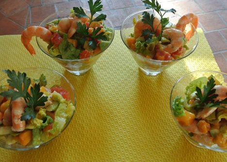 salade crevettes mangue gingembre