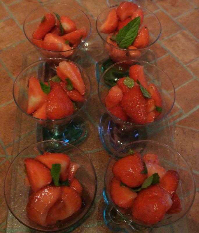 fraises citron menthe