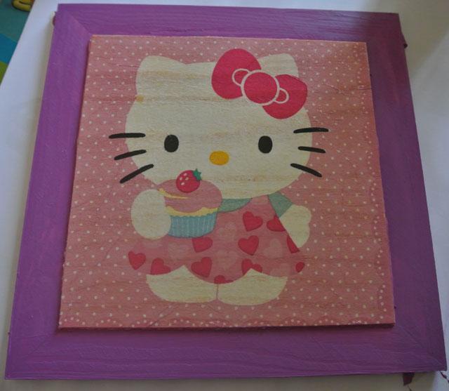 cadre hello kitty serviettage