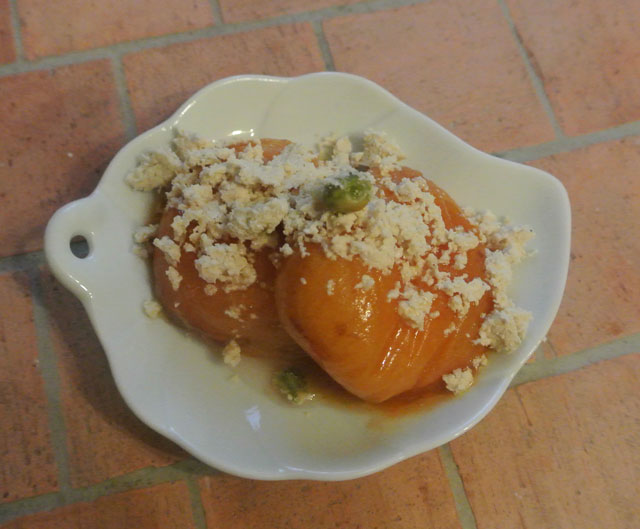 poellee abricots halva pistaches