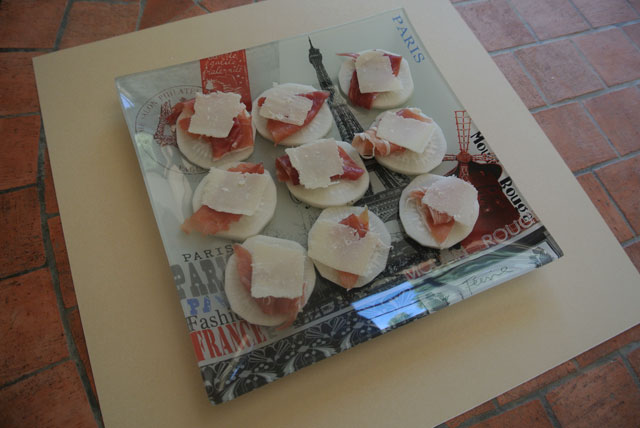 radis noir jambon de pays parmesan