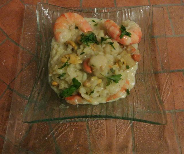 risotto fruits mer
