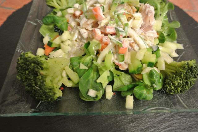 salade haddock legumes pommes