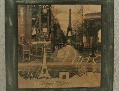 cadre Paris serviettage