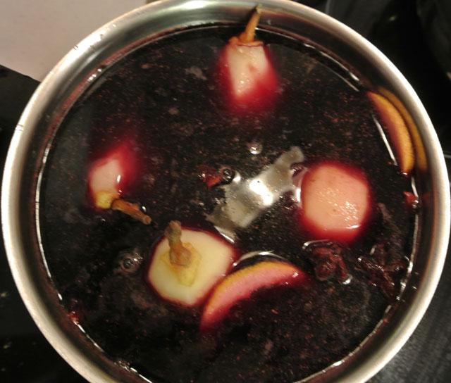tarte aux poires marinade au vin