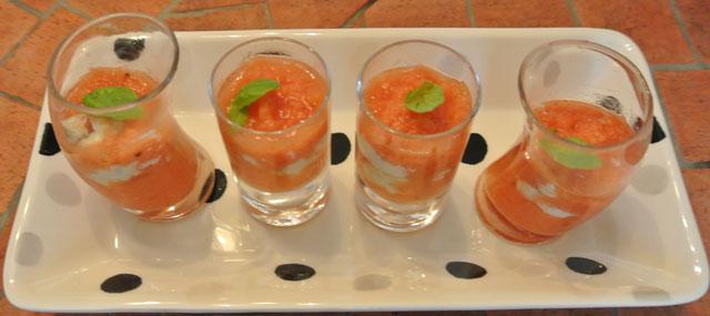 verrine tomates mozzarella