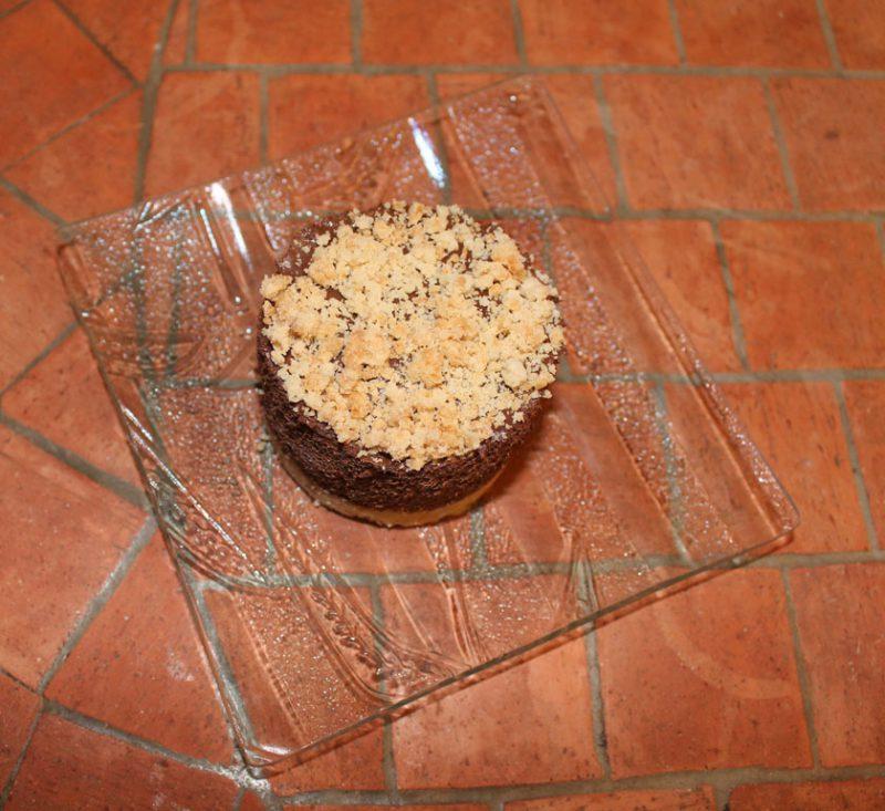 mousse chocolat coeur creme brulee sable