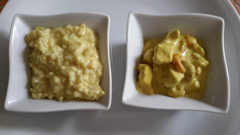 blancs de poulet au curry et noix de cajou