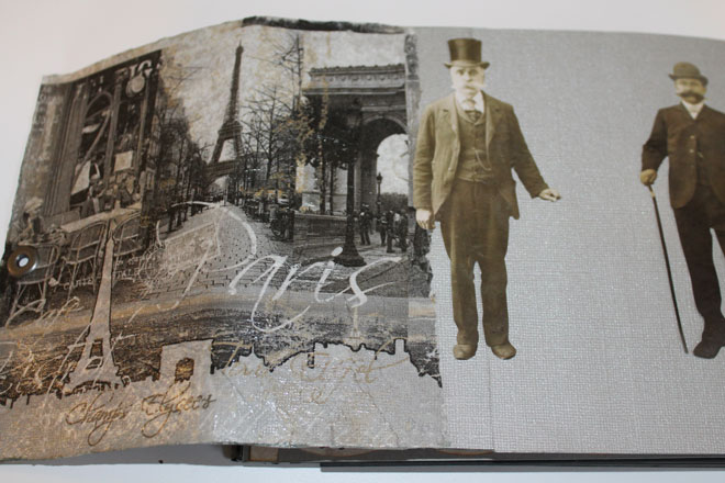 album scrap Paris en noir et blanc
