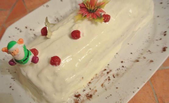 buche blanche poires chocolat