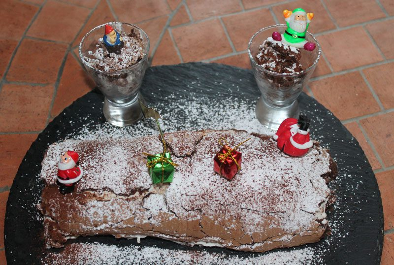 buche chocolat chantilly