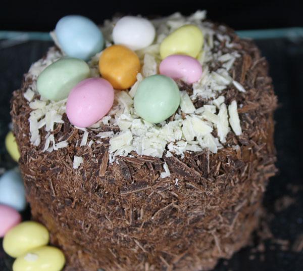 Mousse chocolat sur bastognes, coeur pâte de spéculoos