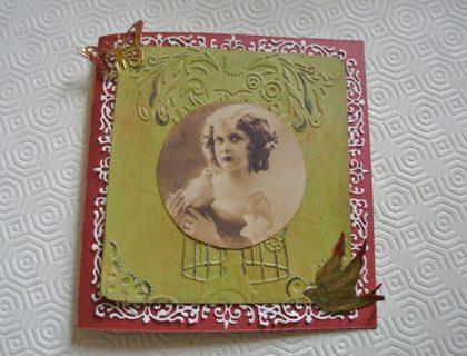 carte de voeux vintage