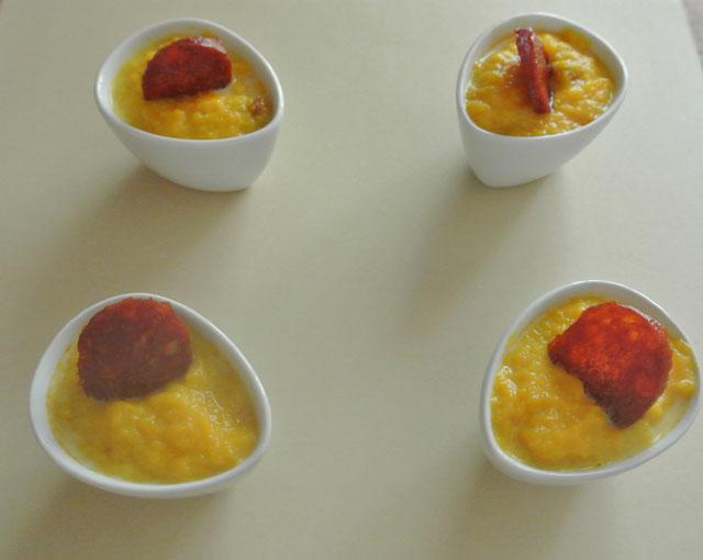 Cocotte potiron et chorizo