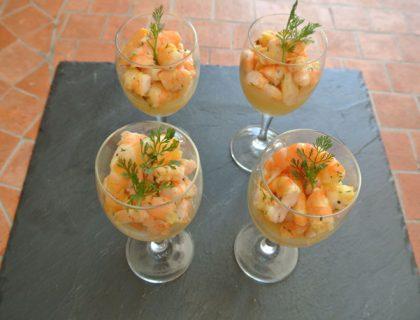 crevettes coriandre ananas