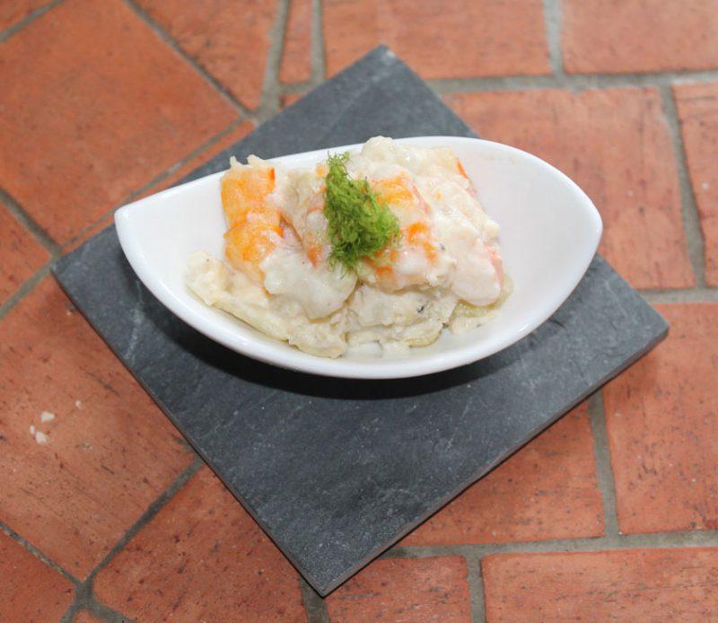 fenouil et crevettes à la crème