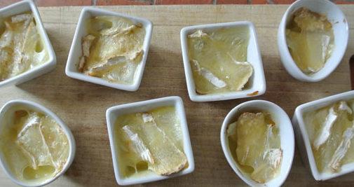 verrine pommes camembert