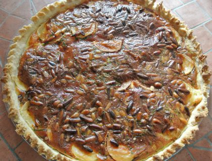 quiche chevre pignons de pin