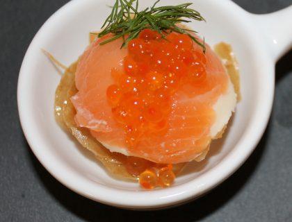 bavarois au saumon sur pate filo