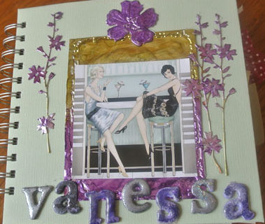 album scrap feminin page de couverture