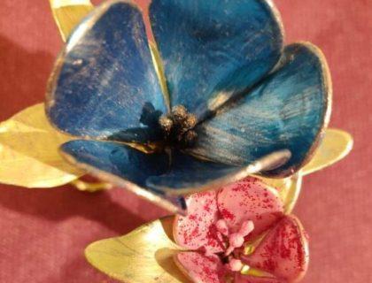 fleurs avec de la colle a bois