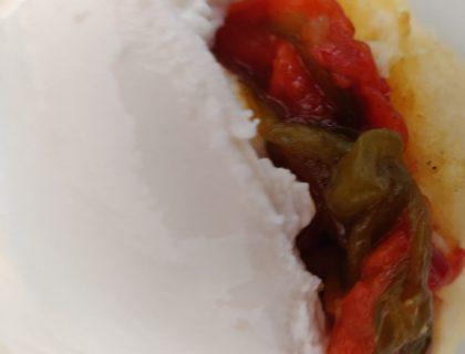 polenta poivrons burrata