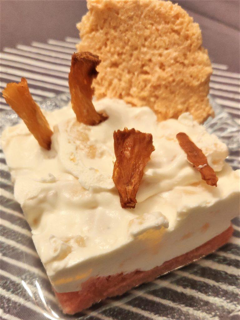 dessert ananas mascarpone décoré